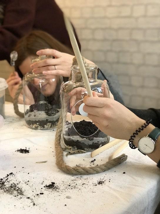 EVJF | Enterrement de vie de jeune fille | Atelier terrarium